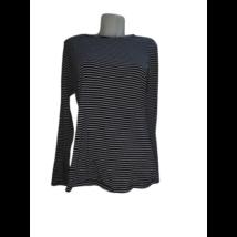 Női XL-es (UK16) fekete-fehér csíkos pamutfelső - Boden