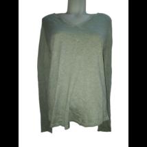 Női XL-es zld finomkötött csillogó pulóver - Camaieu