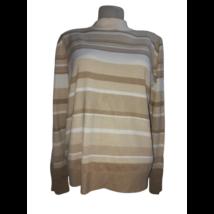 Női UK18 (Kb 2-3XL) barna csíkos finomkötött pulóver - Marks & Spencer