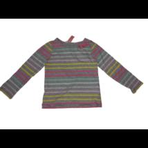 98-104-es szürke színes csíkos lány pamutfelső - H&M