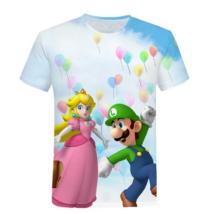 134-140-es kék lány póló - Nintendo - Super Mario - ÚJ
