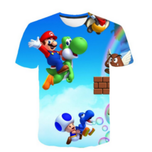 134-140-es kék póló - Nintendo - Super Mario - ÚJ