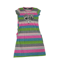 128-as színes csíkos átfordítható flitteres ruha