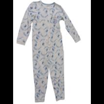 122-128-as fehér alapon kék lovas kezeslábas pizsama - Frozen