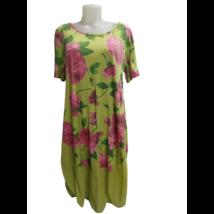 Női sárga virágos lenge nyári ruha, kánikularuha - ÚJ
