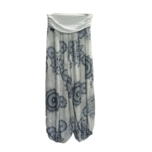 Női kék-fehér mandalamintás laza (jóga) nadrág, nyári nadrág - ÚJ