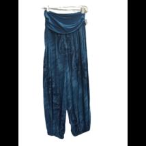 Női türkiz mintás laza (jóga) nadrág, nyári nadrág - ÚJ