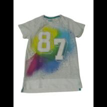 134-es szürke alapon színes számos póló - F&F