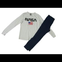 146-152-es fehér-kék pizsama - Nasa - H&M