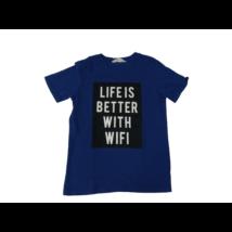 134-140-es kék feliratos póló - H&M