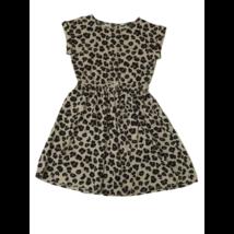 140-es drapp leopárdmintás ruha - H&M