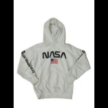 146-152-es fehér feliratos pulóver - Nasa - H&M