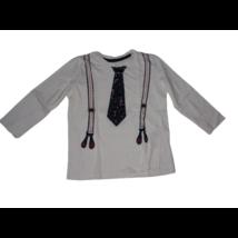 110-es fehér nyakkendős póló - Little Kids