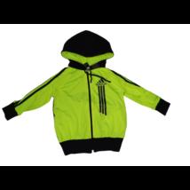 104-es uv zöld-fekete feliratos kardigán - Adidas