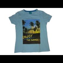 104-es kék pálmafás póló - Little Kids