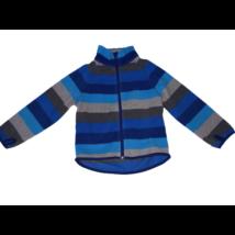 98-as szürke-kék csíkos polár kardigán - H&M
