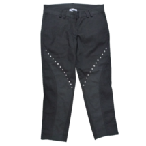 Női S-es fekete szegecses capri nadrág