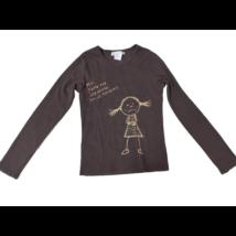 164-es barna lányos pamutfelső - Cache