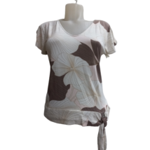 Női S-es barna-drapp mintás póló - Marks & Spencer