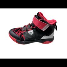 37-es piros-fekete magasszárú cipő - Decathlon