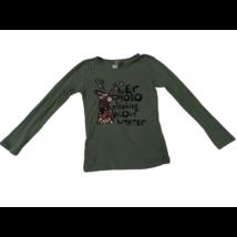 134-es khaki szarvasos lány pamutfelső - C&A