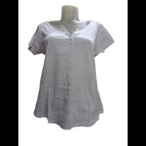 Női XL-es fehér v-nyakú póló - Camateu