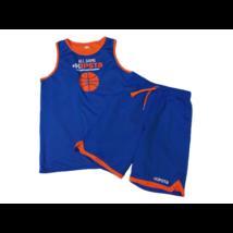 146-152-es kék-narancssárga kosárlabda szett, együttes - Kipsta