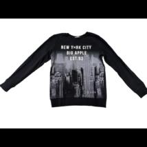146-152-es fekete városos pulóver - H&M