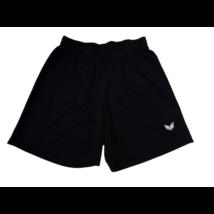 152-es fekete sport rövidnadrág, focishort - Erima