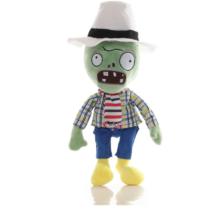 Kockás inges zombi plüss figura - Plants vs. Zombies - ÚJ