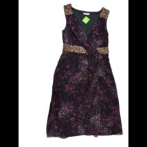 Női M-es fekete-lila flitteres ruha - Monsoon