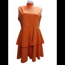 Női XL-es narancssárga fodros rövid ruha - Pretty Little Things - ÚJ