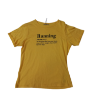 Női M-es sárga feliratos póló - Fisherfield - ÚJ
