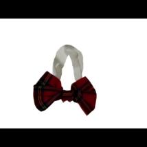 Piros kockás csokornyakkendő, jelmezkiegészítő (pl. bohóc)