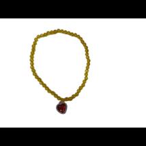 Sárga nyaklánc bíbor medállal - jelmezkiegészítő