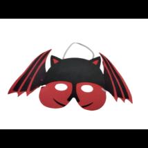 Piros-fekete denevér szivacs álarc, halloween