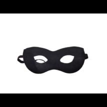 Fekete filc maszk, szemmaszk (pl. Zorro)