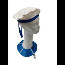 Kék-fehér tengerész, matróz kiegészítő szett, gyerek méret