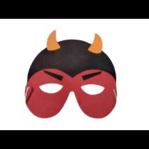 Piros ördög szivacs álarc, halloween