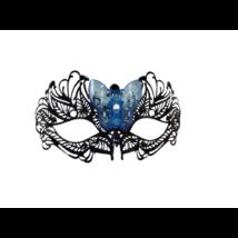 Fekete fém szemmaszk színváltós világító pillangóval - ÚJ