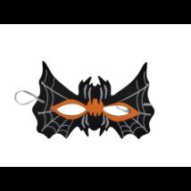 Fekete pók szivacs álarc, halloween
