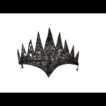 Fekete szivacs korona, tiara