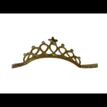 Arany textil korona, gumis - ÚJ