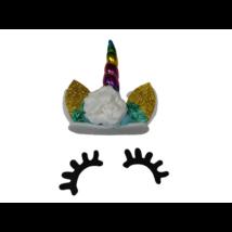 Unikornis jelmezkiegészítő szett (szempilla, fejpánt) - ÚJ