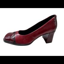 39-as bordó kockasarkú bőr cipő - Bianca