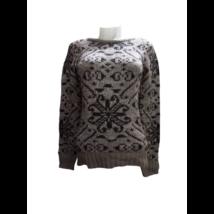 Női XS-es barna mintás kötött pulóver - C&A