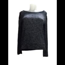 Női M-es szürke csipkebetétes vékonyabb pulóver, felső