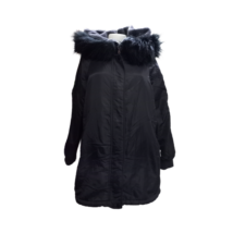 Női M-es fekete kapucnis télikabát - Pull & Bear