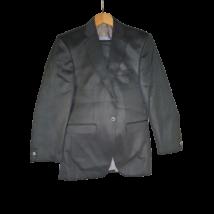 Férfi 44-es fekete magában csíkos öltöny - John Peter