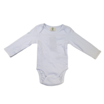 86-os fehér hosszú ujjú body - Organic Cotton - Biopamut - ÚJ